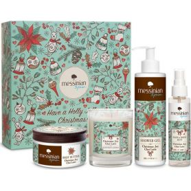 Messinian Spa Gift Set Christmas Joy - Chai Latte: Βούτυρο Σώματος 250ml+Αφρόλουτρο 300ml+Hair & Body Mist 100ml