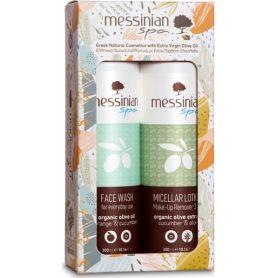 Messinian Spa Promo Face Wash Αγγούρι-Πορτοκάλι 300ml & Micellar Lotion Make-up Remover 3 in 1 Αγγούρι-Αλόη 300ml - Messinian...