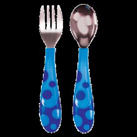 Munchkin Παιδικό Σετ Φαγητού Πηρούνι-Κουτάλι Μπλε - Munchkin