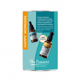 The Pionears Happy Workers(Νew Life Serum 30ml, Fight Acne Treatment Gel 50ml, The Wall Mask 3ml) - The Pionears
