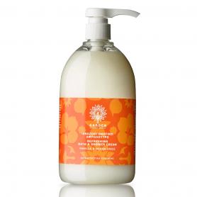 Garden of Panthenols Refreshing Shower Cream Vanilla & Indian Cress Αναζωογονητικό Αφρόλουτρο, 1Lt