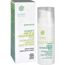 Naobay Purify Hemp & Cucumber PHA Mattifying Cream 24H, 50 ml - Naobay Natural & Greece