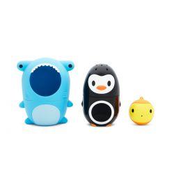 Munchkin Nesting Bath Toy - Μπουγελόφατσες 3τμχ - Munchkin