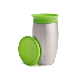 Munchkin Miracle Stainless Steel 360° Sippy Cup Green 296ml - Munchkin