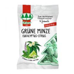 Kaiser Grune Minze Eukalyptus Citrus Καραμέλες για το Βήχα με Δυόσμο, Ευκάλυπτο & Lime 60g - Kaiser