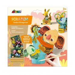 Avenir Scratch Fuzzy Sticks|Koalas & Kangaroos 3+ - Avenir