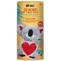 Avenir Sewing Doll Koala With Heart 6+ - Avenir