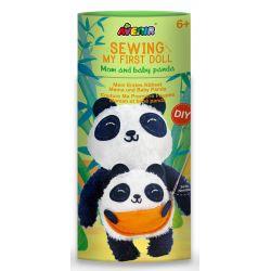 Avenir Sewing Doll Panda And Baby 6+ - Avenir