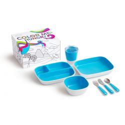 Munchkin Splash Dining Set Blue Σετ Φαγητού Μπλε 18m+ - Munchkin