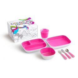 Munchkin Splash Dining Set Pink Σετ Φαγητού Ρόζ 18m+ - Munchkin