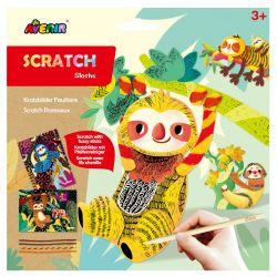 Avenir Scratch Fuzzy Sticks| Sloths 3+ - Avenir