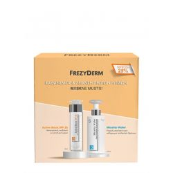 Frezyderm Maskne Musts Active Block SPF25 50ml & Micellar Water 200ml - Frezyderm