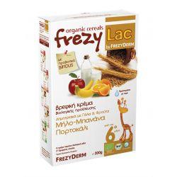 Frezyderm Frezylac Βιολογική Βρεφική Κρέμα Δημητριακά Με Γάλα & Φρούτα Μήλο-Μπανάνα-Πορτοκάλι 200gr - Frezyderm