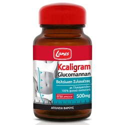 Lanes Kcaligram Glucomannan 500mg 60 κάψουλες - Lanes