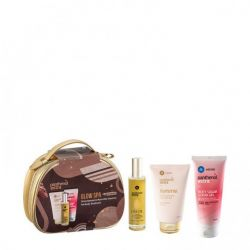 Medisei Panthenol Extra Glow Spa Femme Cleanser 200ml & Body Sugar Scrub Gel 200ml & Extra Dry Oill 100ml - Panthenol Extra