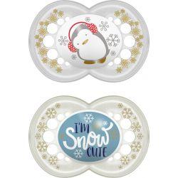 Mam Πιπίλα Σιλικόνης Winterfun 6-16m I'm Snow Cute 2τμχ 167S - Mam