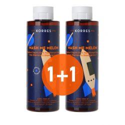 Korres Wash Me Melon Παιδικό Σαμπουάν & Αφρόλουτρο 2 Σε 1 250ml 1+1Δωρο - Korres