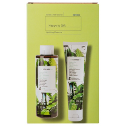 Korres Set Mint Tea Αφρόλουτρο Πράσινο Τσάι 250ml & Γαλάκτωμα Σώματος 125ml - Korres