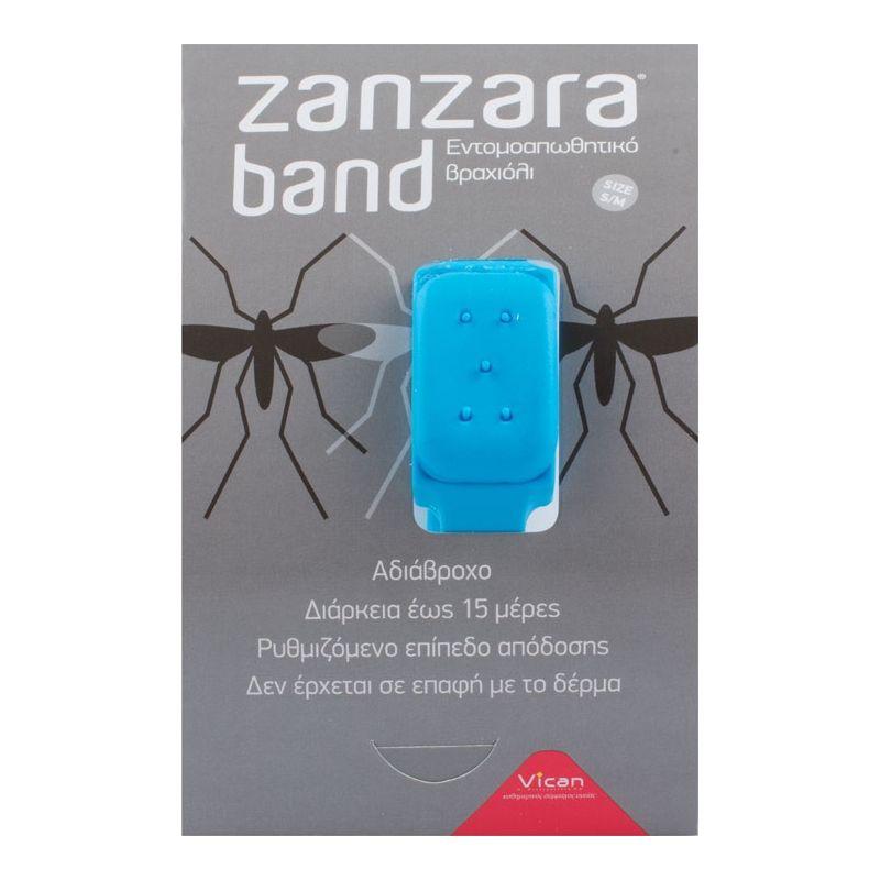 Vican Zanzara Band Εντομοαπωθητικό Βραχιόλι (S/M) Blue - PharmacyStories