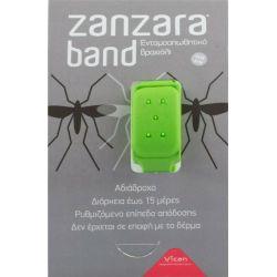 Vican Zanzara Band Εντομοαπωθητικό Βραχιόλι (S/M) Green - PharmacyStories