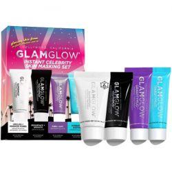 Glamglow Set Instant Celebrity Skin Masking Σετ Μάσκες Προσώπου για Βαθύ Καθαρισμό, Τόνωση, Ενυδάτωση & Λάμψη, 4 pcs - GlamGlow