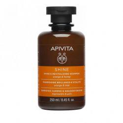 Apivita Σαμπουάν Λάμψης Και Αναζωογόνησης Με Πορτοκάλι & Μέλι 250ml - Apivita
