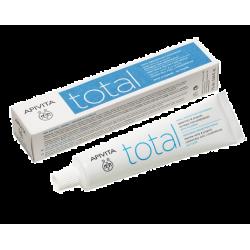 Apivita Total Οδοντόκρεμα Ολικής Προστασίας με Φθόριο Δυόσμος & Πρόπολη 75ml - Apivita