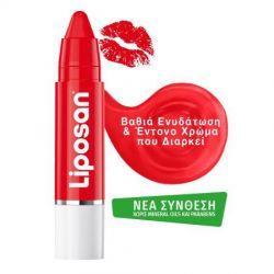 Liposan Poppy Red Crayon Lipstick 3gr - Liposan