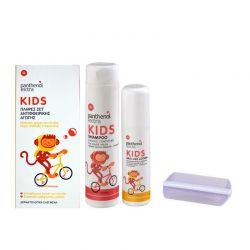 Panthenol Extra Kids Πλήρες Σετ Αντιφθειρικής Αγωγής (Lotion 125ml + Shampoo 300ml + Χτενάκι) - Panthenol Extra
