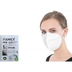 Famex Μάσκα Προστασίας Ενηλίκων FFP2 NR Λευκό Χρώμα 10τμχ - Famex