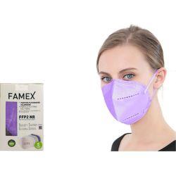 Famex Μάσκα Προστασίας Ενηλίκων FFP2 NR Μωβ Χρώμα 10τμχ - Famex