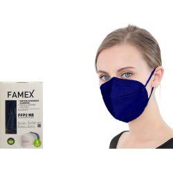 Famex Μάσκα Προστασίας Ενηλίκων FFP2 NR Μπλε Χρώμα 10τμχ - Famex