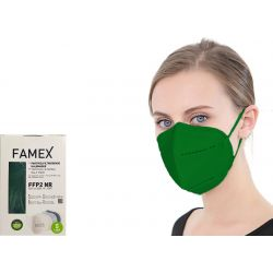 Famex Μάσκα Προστασίας Ενηλίκων FFP2 NR Πράσινο Χρώμα 10τμχ - Famex