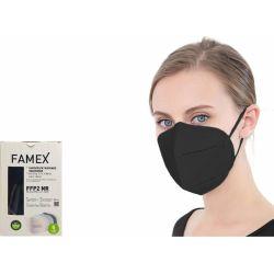 Famex Μάσκα Προστασίας Ενηλίκων FFP2 NR Μαύρο Χρώμα 10τμχ - Famex