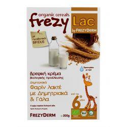 Frezylac Βιολογική Βρεφική Κρέμα Φαρίν Λακτέ (με Δημητριακά & Γάλα), 200gr - Frezyderm