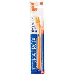 Curaprox Παιδική Οδοντόβουρτσα σε Χρώμα Πορτοκαλί για 4+ χρονών - Curaprox